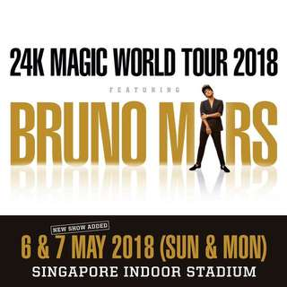 Bruno Mars Cat 5 Priority - May 7