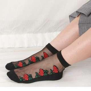 (4 pack) Sexy Sheer Mesh Fashion Socks