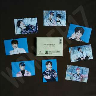 [READY STOCK] BTS Wings Tour Official Merchandise Mini Photo Card ver 1
