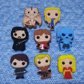 Game Of Thrones GOT Jibbitz Inspired Crocs Charms