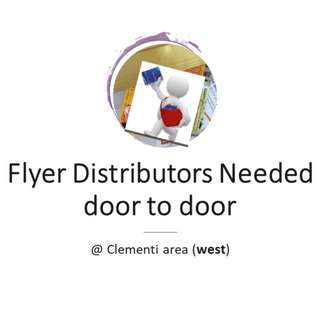 Flyer Distributors Needed