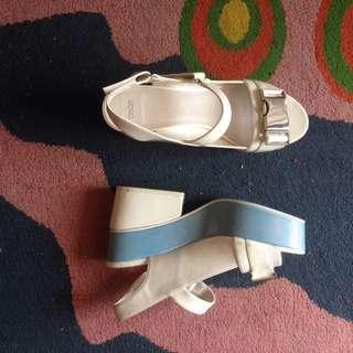 Asos white platform shoes