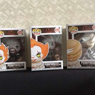 3 Pennywise pop vinyl exclusive