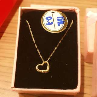 On hand NECKLACE  (0.8 grams and 0.7 grams) Pure saudi gold
