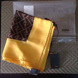 FENDI Zucca Logo Silk Scarf