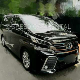 Brand new Vellfire ready for rent