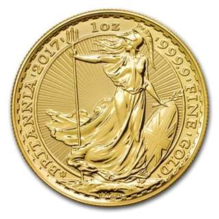 Gold coin 2017 Great Britain UK United Kingdom 1 oz 1oz (31.1 grams) Pure Gold Britannia Bullion BU Coin  (30th Anniversary) 999.9 fineness ONLY 7030 units minted. Sold out at UK mint!