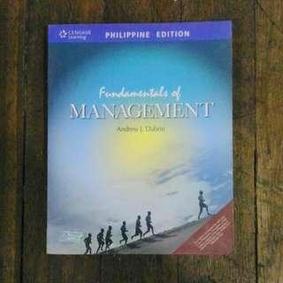 FUNDAMENTALS OF MANAGEMENT PHILIPPINE EDITION by DUBRIN.