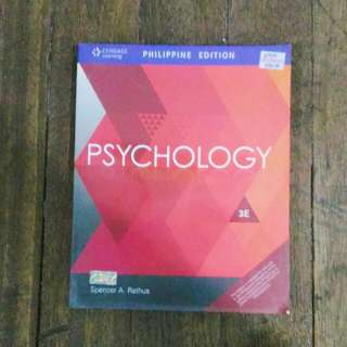 PSYCHOLOGY 2E PHILIPPINE EDITION by RATHUS.