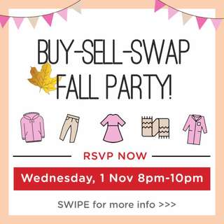Live Buy-Sell-Swap FALL Party