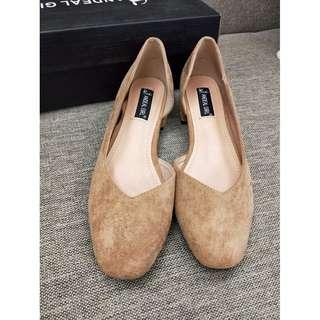 方頭麂皮包鞋 23.5