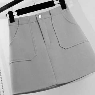 A-line Skirt in Grey