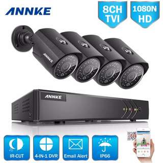 ANNKE 8CH 1080p digital video recorder With 4 HD Cameras
