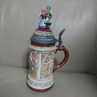 🚚 德國陶瓷啤酒杯GERZ瓷器