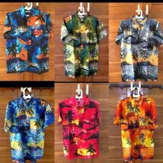 Kemeja Pantai Hawai Bali Trendy/ Kaos Pria Wanita Batik Pantai Vintage/ Costum Couple/ Kaos Polos Bermotif/ Pakaian Atasan Tumblr