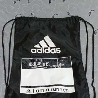 Adidas 台北馬拉松 束口袋