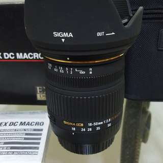 SIGMA  18-50 F2.8  DC MACRO  FOR CANON  AF