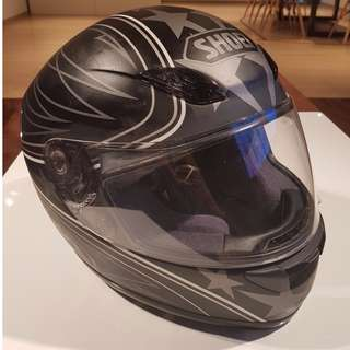 Shoei Helmet Full Face Matt Black/Grey RF-1000 XR-1000