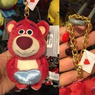 史迪奇鏈子吊飾,三眼怪鏈子吊飾,熊抱哥鏈子吊飾*香港迪士尼*