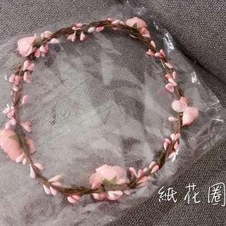 🚚 紙花圈 花童花圈 (不凋花,乾燥花,花圈,花藝設計)