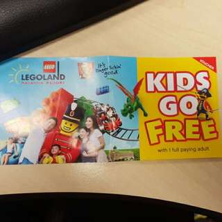 legoland voucher for kids free entry