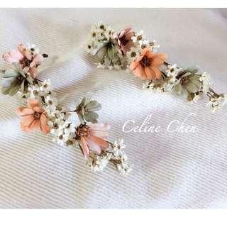 花冠 新娘飾品 新娘頭飾 (不凋花,乾燥花,花圈,花藝設計)