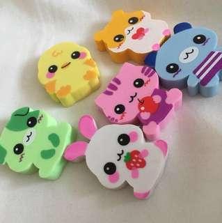 Cute animal rubbers