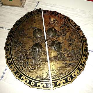 Huge solid brass intricate knob