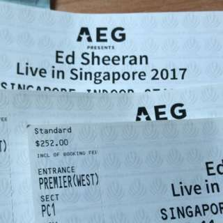 Ed Sheeran (11 November) Cat 1