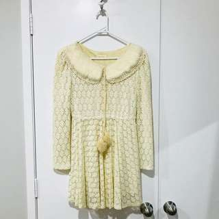 Cream dress size 8