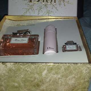 Miss Dior by Christian Dior 3pice gift set