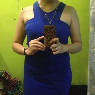 royal blue sexy dress