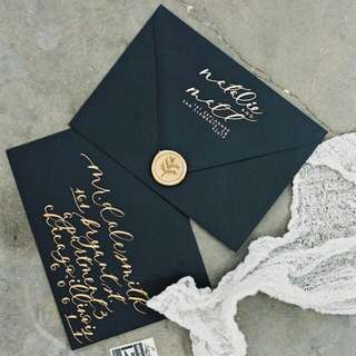 Wedding Invitation Envelope with personalized calligraphy