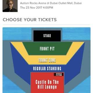 ED SHEERAN LIVE IN DUBAI - FRONT ZONE TICKETS!