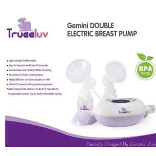 Brand New Trueeluv Gemini Breast Pump