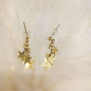 Gold Stars Earing