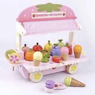 Brand new wooden ice cream stall