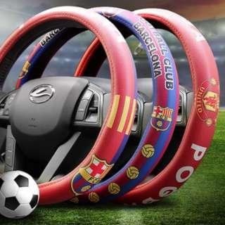 Soccer team steering wheel cover