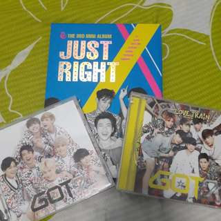 (Free Postage)Combo SET Got7 3rd Album+ Japanese Single X2