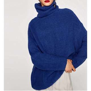 OshareGirl 08 歐美西班牙單經典耐穿保暖純色系列高領針織厚毛衣
