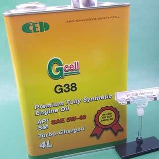 偈油機油Gcell G38 C3 5w-40 4升