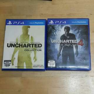 PS4 Uncharted 1 to 4