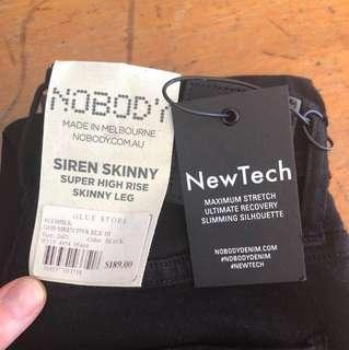 SALE!! Brand new nobody jeans- skinny siren black size 26/8