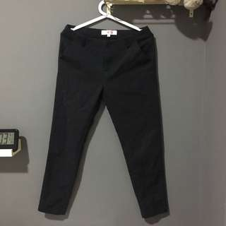 (S) Mid Waist Pencil Pants