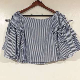 ZARA Offshoulder with detachable sleeves