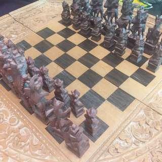 古董峇里島西洋棋