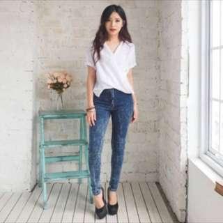 White Shirt Midi Blouse