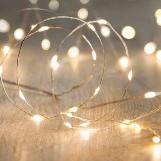 Fairy Pixie Lights (50 LED / 5 Meters) + Free Battery  [Yellow or White]