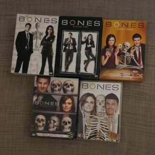 Bones DVD s1 to s5