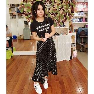 韓國 不規則 魚尾裙
